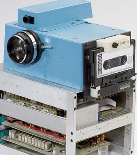 Kodak's first digital camera.